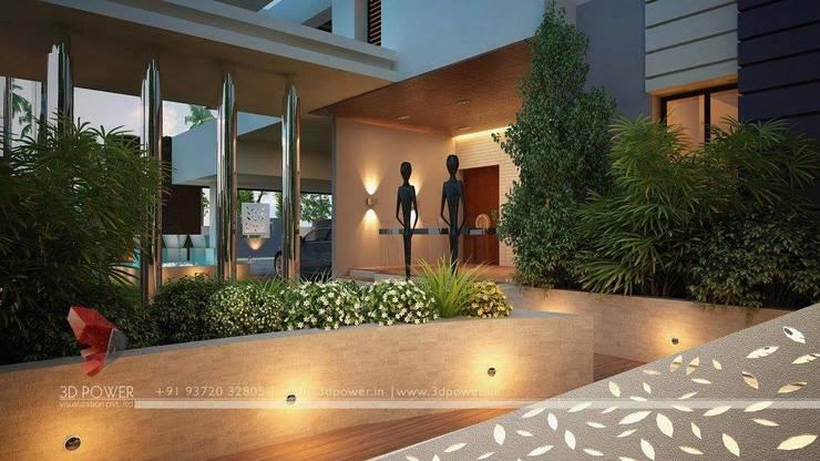 Beautiful Exteriors!:  Terrace by 3D Power Visualization Pvt. Ltd.