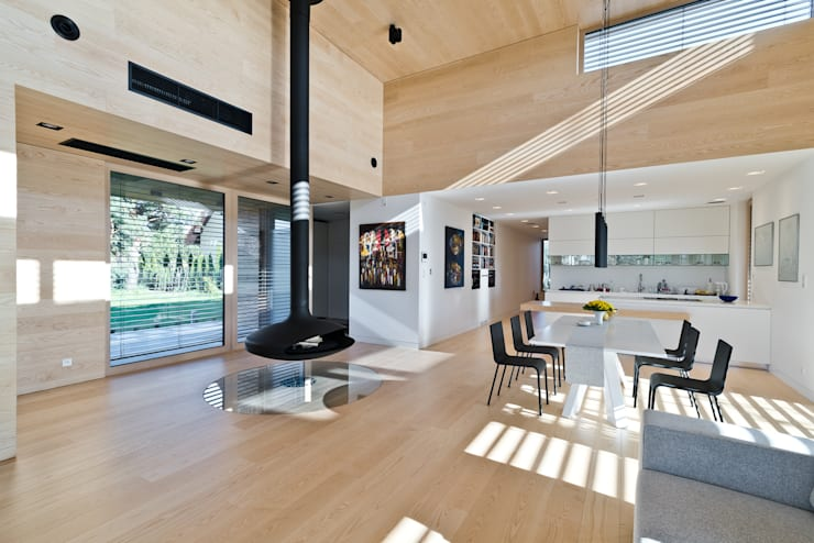 Cedar House: styl , w kategorii Salon zaprojektowany przez Fotografia Przemysław Turlej,Skandynawski Drewno O efekcie drewna