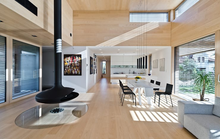 Cedar House: styl , w kategorii Salon zaprojektowany przez Fotografia Przemysław Turlej