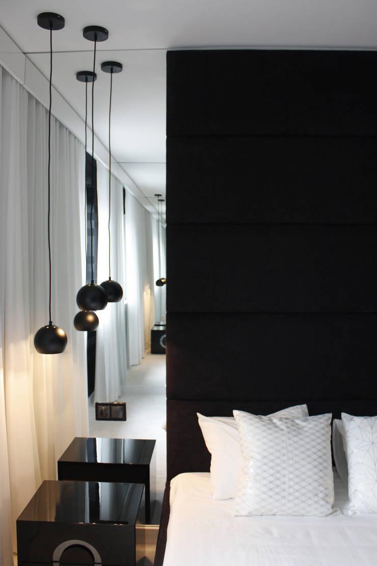 PROJEKT MIESZKANIA W LESZNIE: styl , w kategorii Sypialnia zaprojektowany przez DECOCAFE