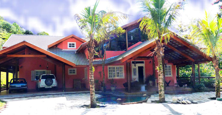 Casas de estilo  por Elisabeth Berlato Arquitetura, Interiores e Paisagismo
