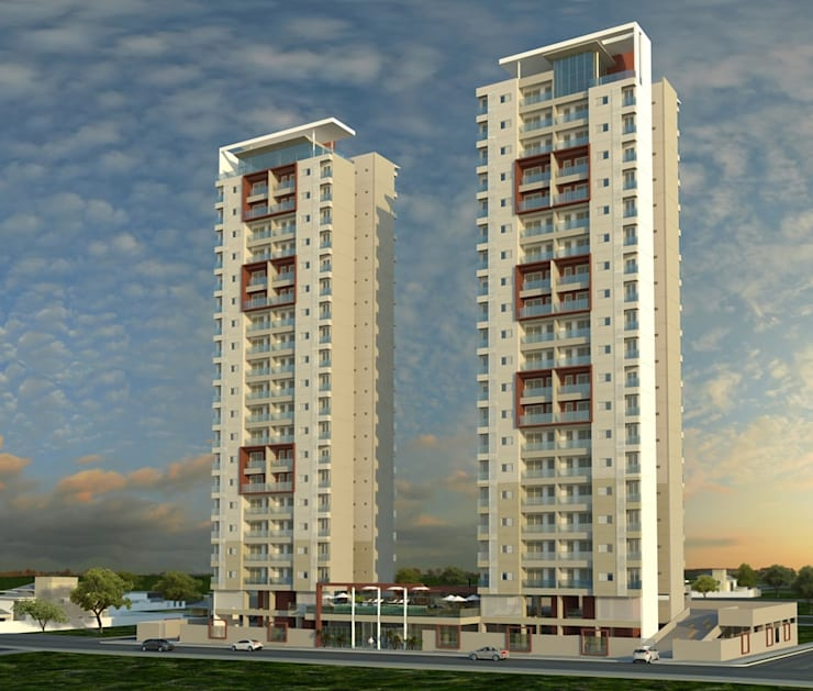 Residencial Solariun:   por Cavalheiro e Lopes Arquitetos Associados,
