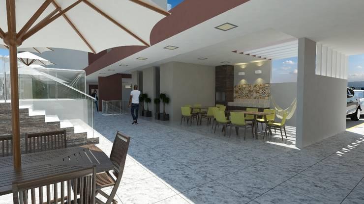 Residencial Solariun: Terraços  por Cavalheiro e Lopes Arquitetos Associados,