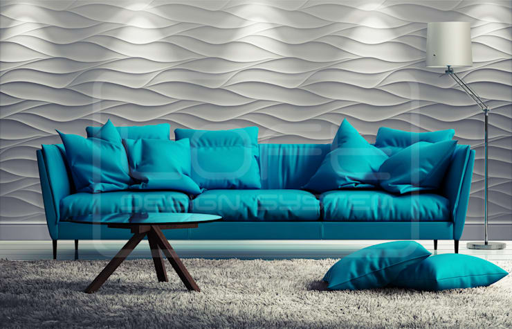 Panele Dekoracyjne 3D - Loft Design System - model Sand Storm: styl , w kategorii  zaprojektowany przez Loft Design System,Nowoczesny
