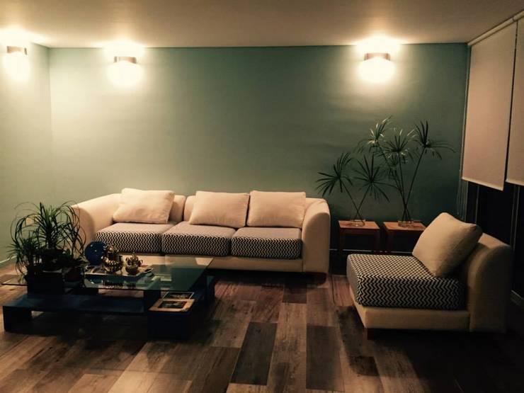Casa PB: Livings de estilo  por LS+M
