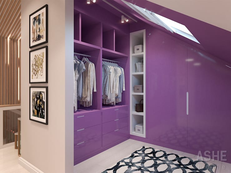 Closets de estilo  por Студия авторского дизайна ASHE Home