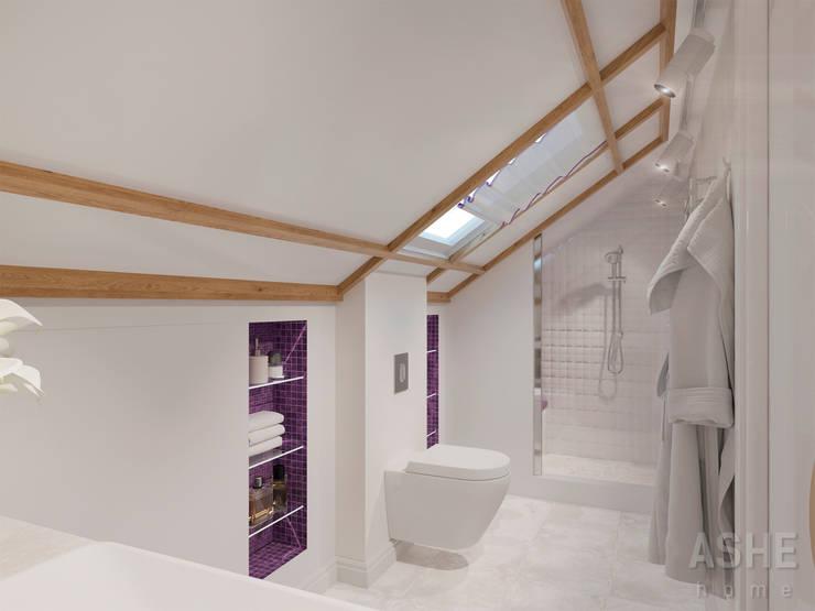 Таунхаус в Подмосковье: Ванные комнаты в . Автор – Студия авторского дизайна ASHE Home