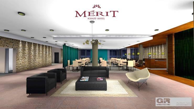 -: Hoteles de estilo  por G + R Arquitectura