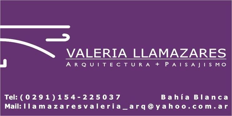 Logo:  de estilo  por Valeria Llamazares . Arquitectura + Paisajismo .