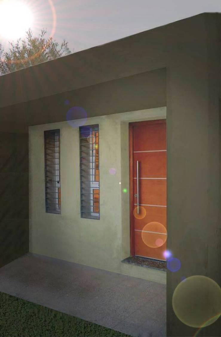 OBRA CANTARUTTI: Casas de estilo  por A1 arquitectura+diseño