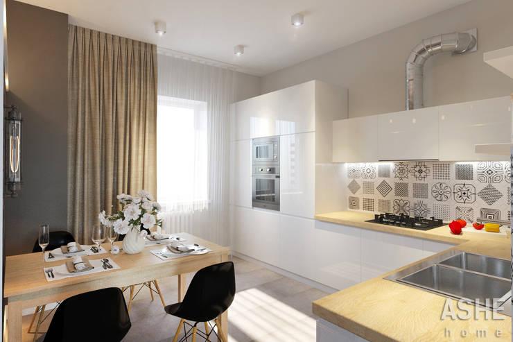 Cocinas de estilo  por Студия авторского дизайна ASHE Home