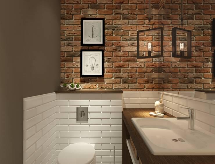 Интерьер таунхауса под Уфой: Ванные комнаты в . Автор – Студия авторского дизайна ASHE Home