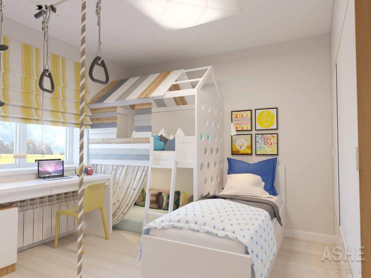 Интерьер таунхауса под Уфой: Детские комнаты в . Автор – Студия авторского дизайна ASHE Home