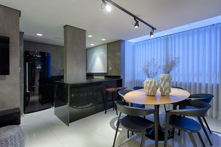 Apartamento | Cobertura : Salas de jantar  por Piacesi Arquitetos