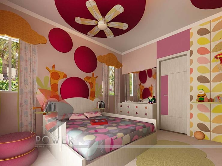 Kinderkamer door 3D Power Visualization Pvt. Ltd., Modern