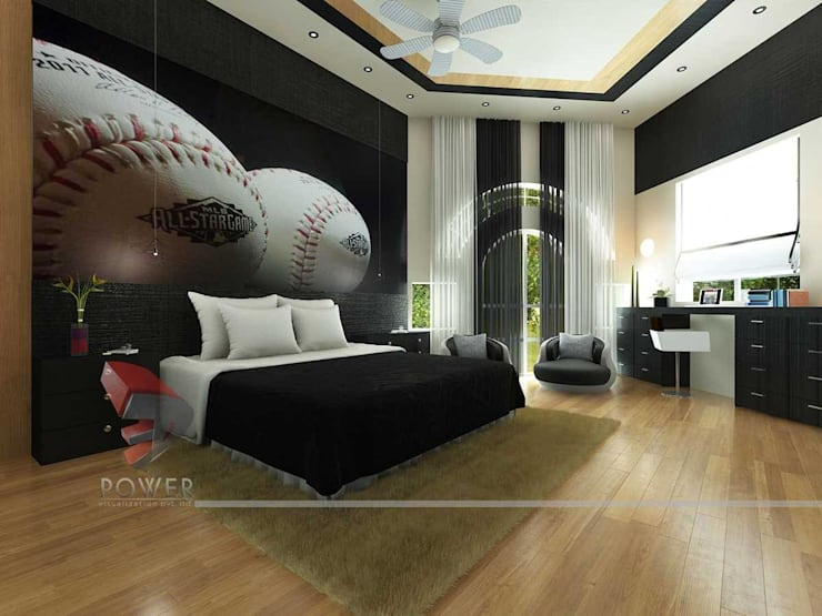 Nursery/kid's room by 3D Power Visualization Pvt. Ltd.,