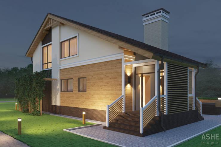 Дизайн коттеджа под Уфой: Дома в . Автор – Студия авторского дизайна ASHE Home