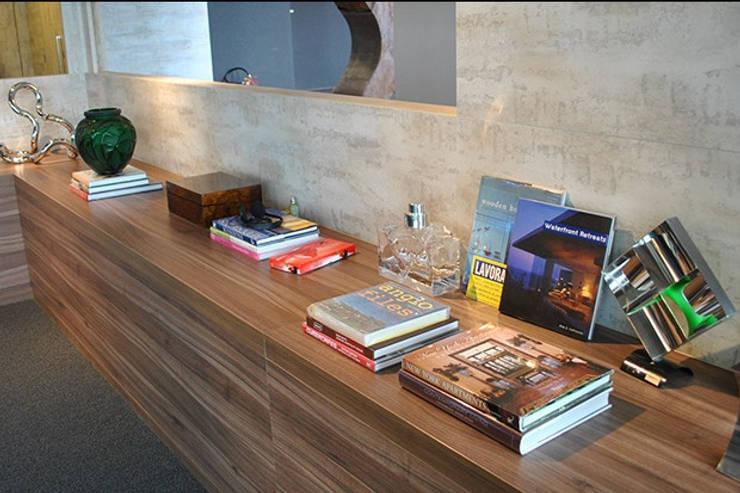 Salas / recibidores de estilo  por Aline Santa Rosa | Arquitetura e Interiores