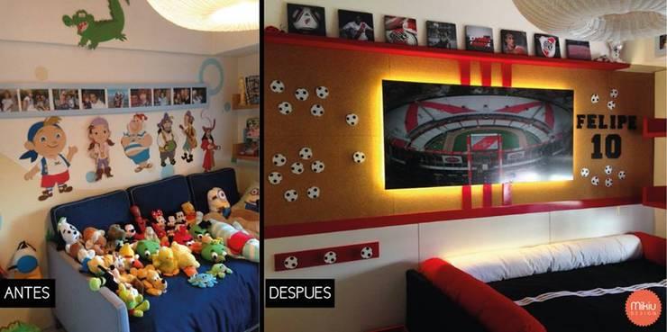 Diseño de la Habitación de Felipe:  de estilo  por Mikiu Design,