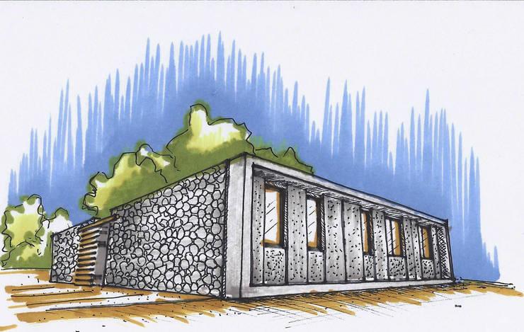 Casas de Playa - El Patio -:  de estilo  por LUCAS MC LEAN ARQUITECTO