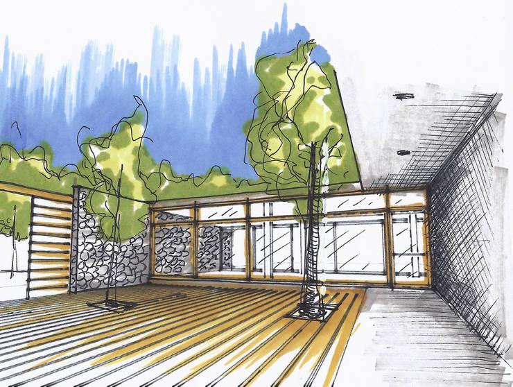 Casas de Playa – El Patio -:  de estilo  por LUCAS MC LEAN ARQUITECTO