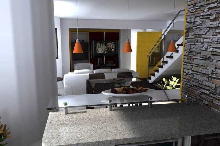 Apartamento en El Rosal: Salas / recibidores de estilo  por Arquitectura 4rq
