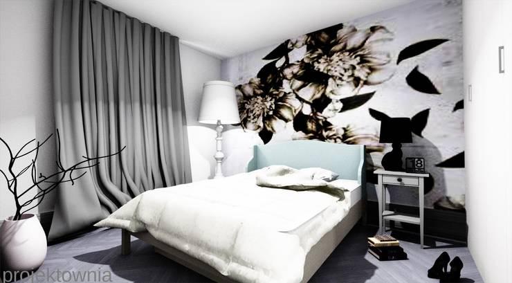 Apartament Chojny Park: styl , w kategorii Sypialnia zaprojektowany przez Projektownia Marzena Dąbrowska,Nowoczesny