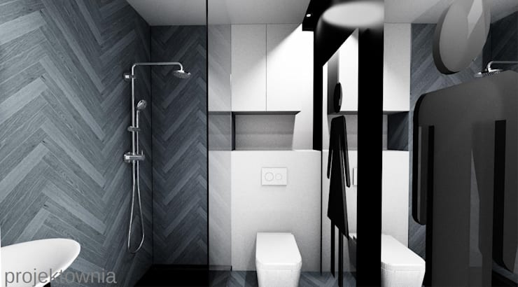 Apartament Chojny Park: styl , w kategorii Łazienka zaprojektowany przez Projektownia Marzena Dąbrowska,Nowoczesny