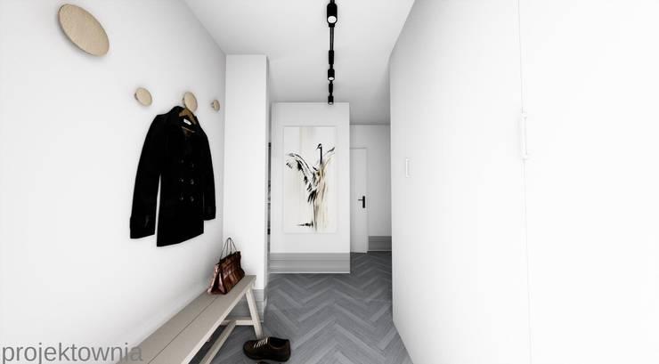 Apartament Chojny Park: styl , w kategorii Korytarz, przedpokój zaprojektowany przez Projektownia Marzena Dąbrowska,Nowoczesny