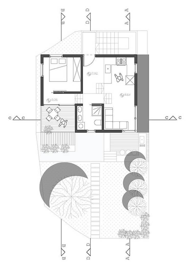 Edificio:  de estilo  por JRF arquitectura