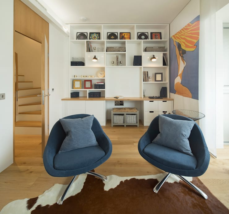 Argyll Place - Music Room:  Media room by Jigsaw Interior Architecture