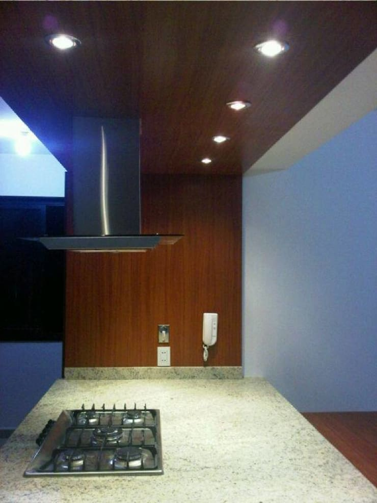 Cocina Le Ermitage: Cocinas de estilo moderno por Forma y Espacio Arquitectos Constructores CA