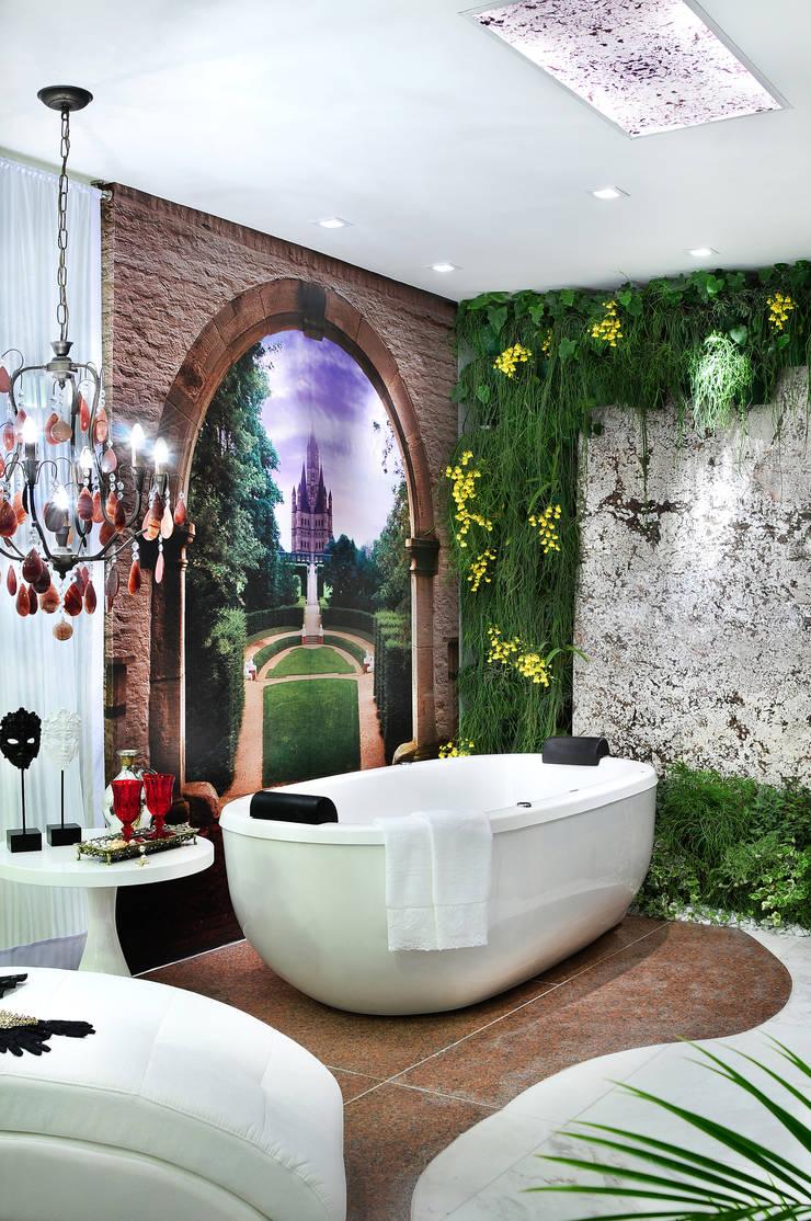 Sala de Banho – Vitrine - Vanessa de Mani: Espaços comerciais  por Vanessa De Mani