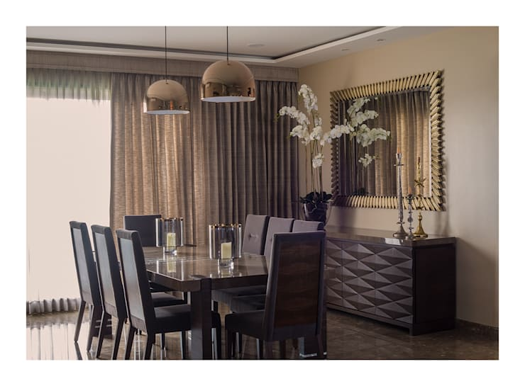 Apartment in Chennai:  Dining room by Rakeshh Jeswaani Interior Architects