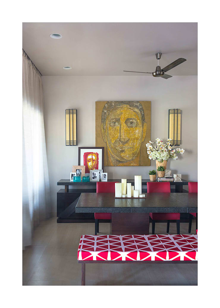 Lonavala Holiday Home :  Dining room by Rakeshh Jeswaani Interior Architects,Eclectic