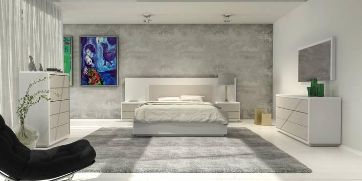 Mobiliário de quarto Bedroom furniture: Quarto  por Intense mobiliário e interiores;