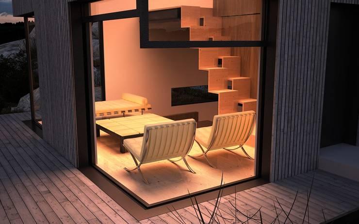 Abrigo de Montanha : Casas  por Nuno Neto - Arquitectura