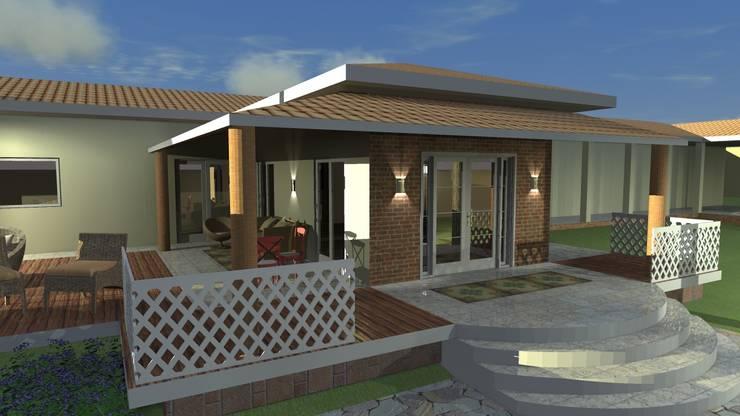 Fachadas: Casas  por Arquiteto Lucas Lincoln ,