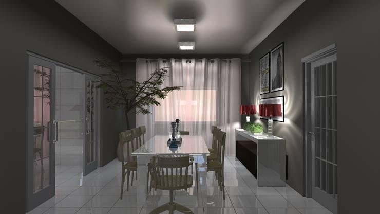 Sala de Jantar: Salas de jantar  por Arquiteto Lucas Lincoln ,