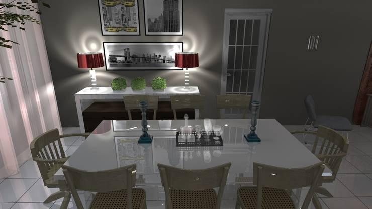 Comedores de estilo  por Arquiteto Lucas Lincoln