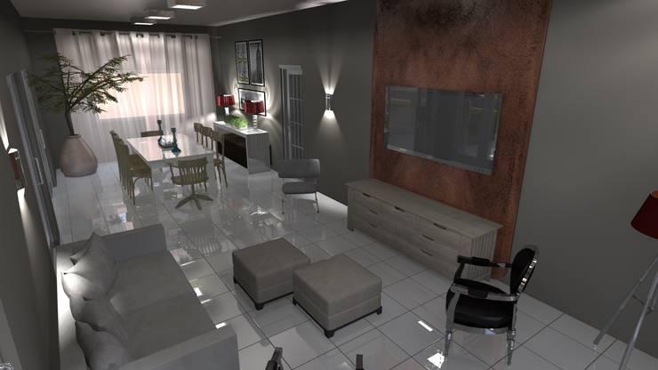 Salas de estilo  por Arquiteto Lucas Lincoln