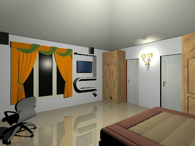 Interior projects: modern Bedroom by VASTHU ARCHITECTS