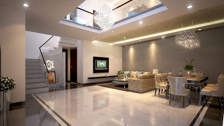 Living room by sunilchitara, Modern