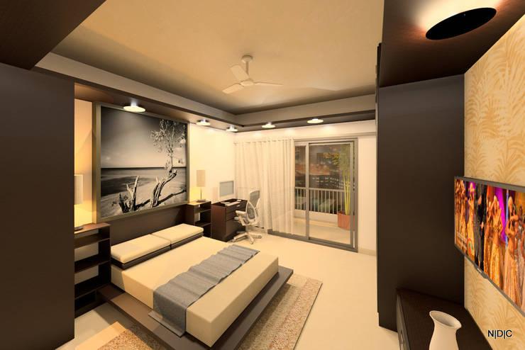 Interior Designs:  Bedroom by Newarch Design Consultants Pvt. Ltd,Modern