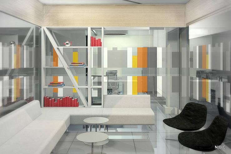 Interior Designs:  Study/office by Newarch Design Consultants Pvt. Ltd,Modern