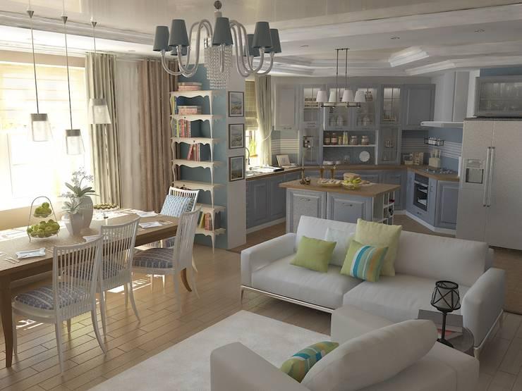 Квартира-студия: Гостиная в . Автор – Первое Дизайн-Бюро