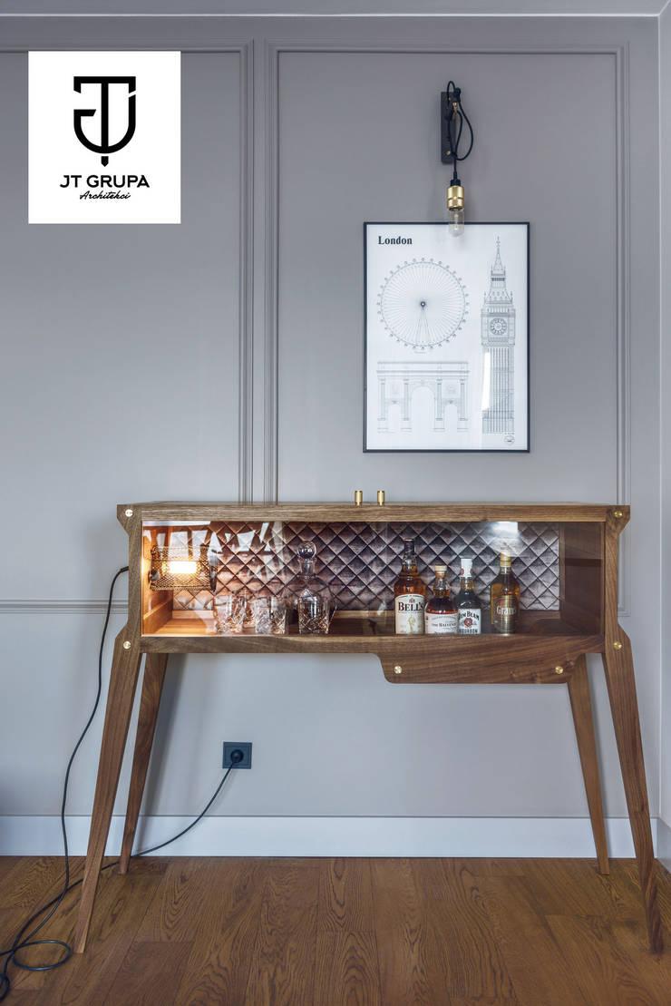 GDAŃSK - Mieszkanie wakacyjne: styl , w kategorii Salon zaprojektowany przez JT GRUPA,Eklektyczny
