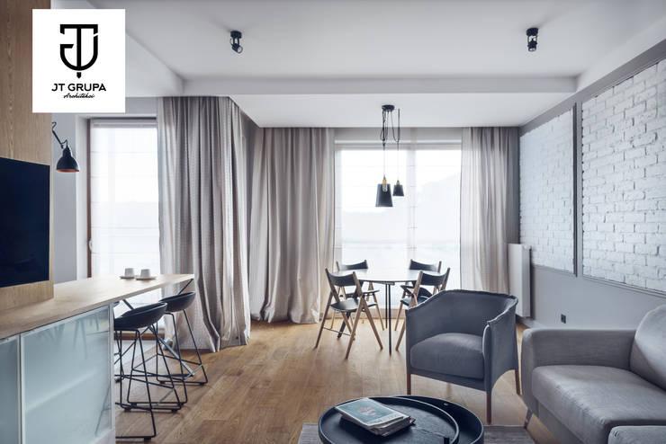 GDAŃSK – Mieszkanie wakacyjne: styl , w kategorii Salon zaprojektowany przez JT GRUPA,Eklektyczny