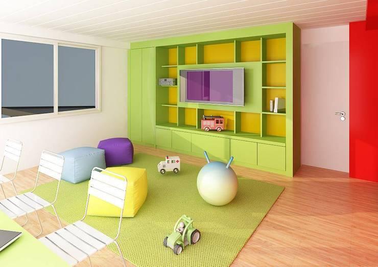 Nursery/kid's room by unoenseis Estudio
