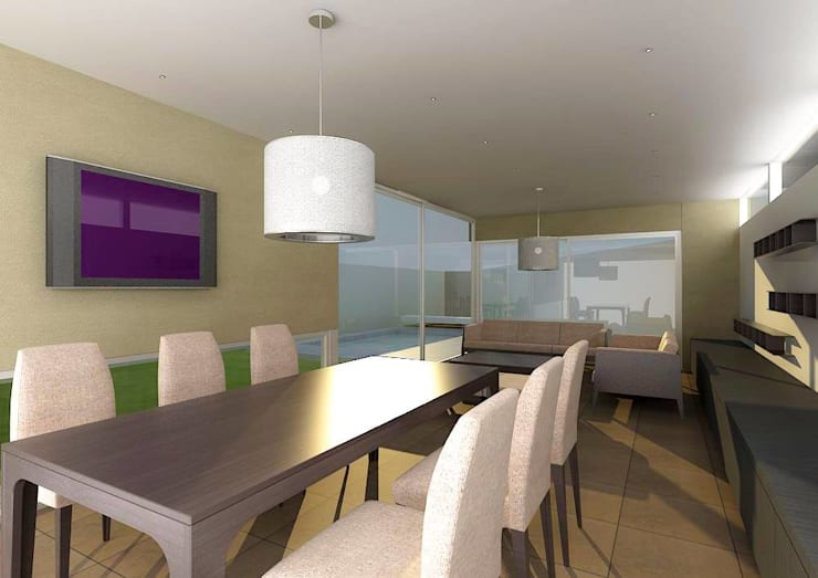 Dining room by unoenseis Estudio